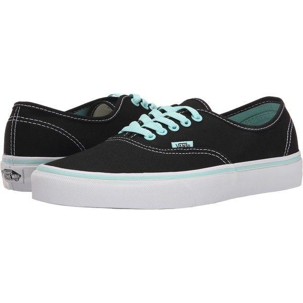 Vans Authentic ((Pop) Black/Blue Tint) Skate Shoes ($36)