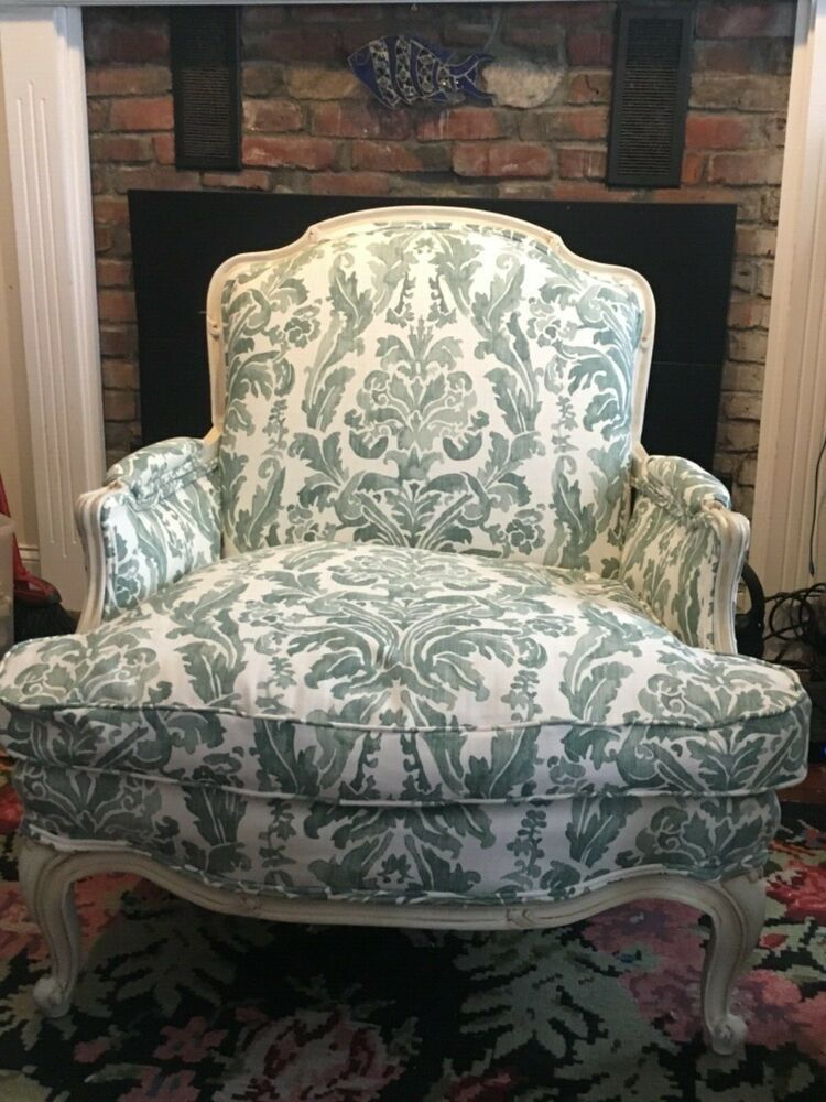 oversized vintage French Bergere chair Ebay in 2019