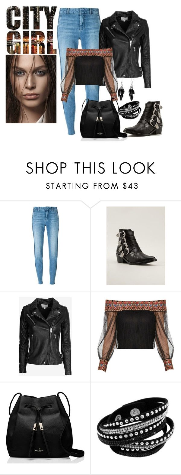 """""""City Girl"""" by penelopepoppins ❤ liked on Polyvore featuring Vince, Toga, IRO, Kate Spade and Alexa Starr"""