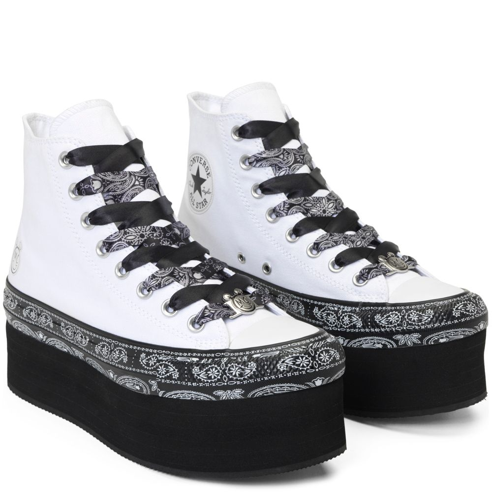 0fcc30f07281 Converse x Miley Cyrus Chuck Taylor All Star Platform White Black White