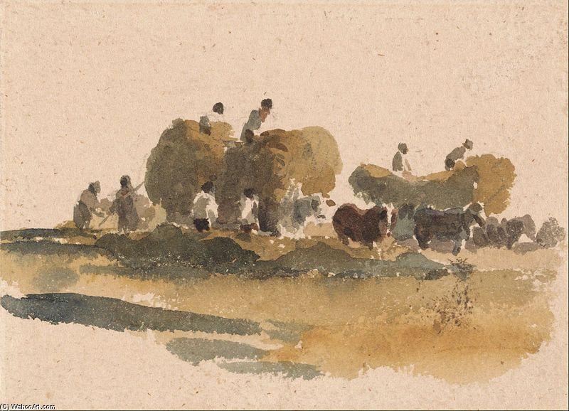 Peter De Wint Hay Wagons Artist Winslow Homer Sketches