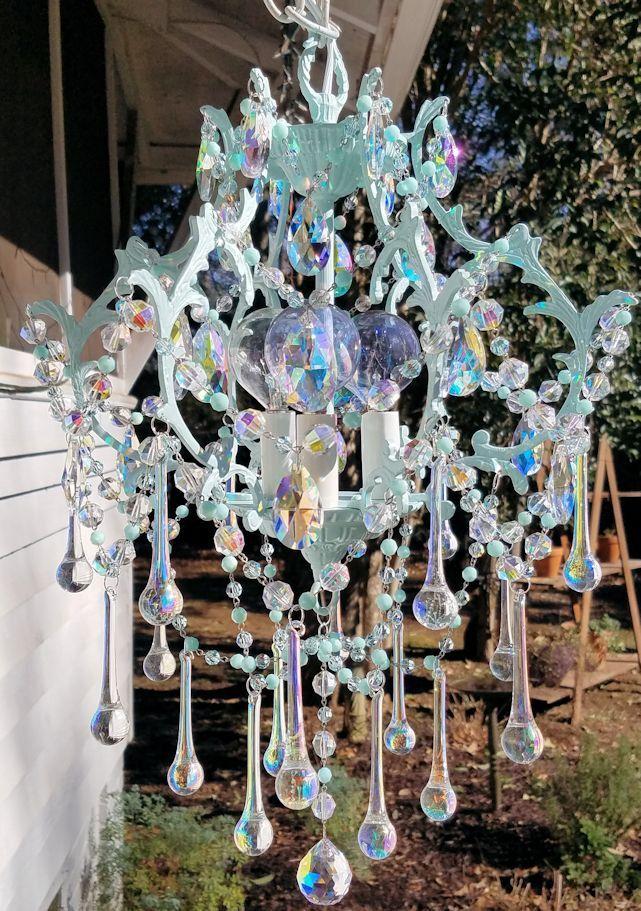 Antique cage chandelier destiny petite chandelier aqua chandelier antique cage chandelier destiny petite chandelier aqua chandelier vintage lighting crystal chandelier aloadofball Images