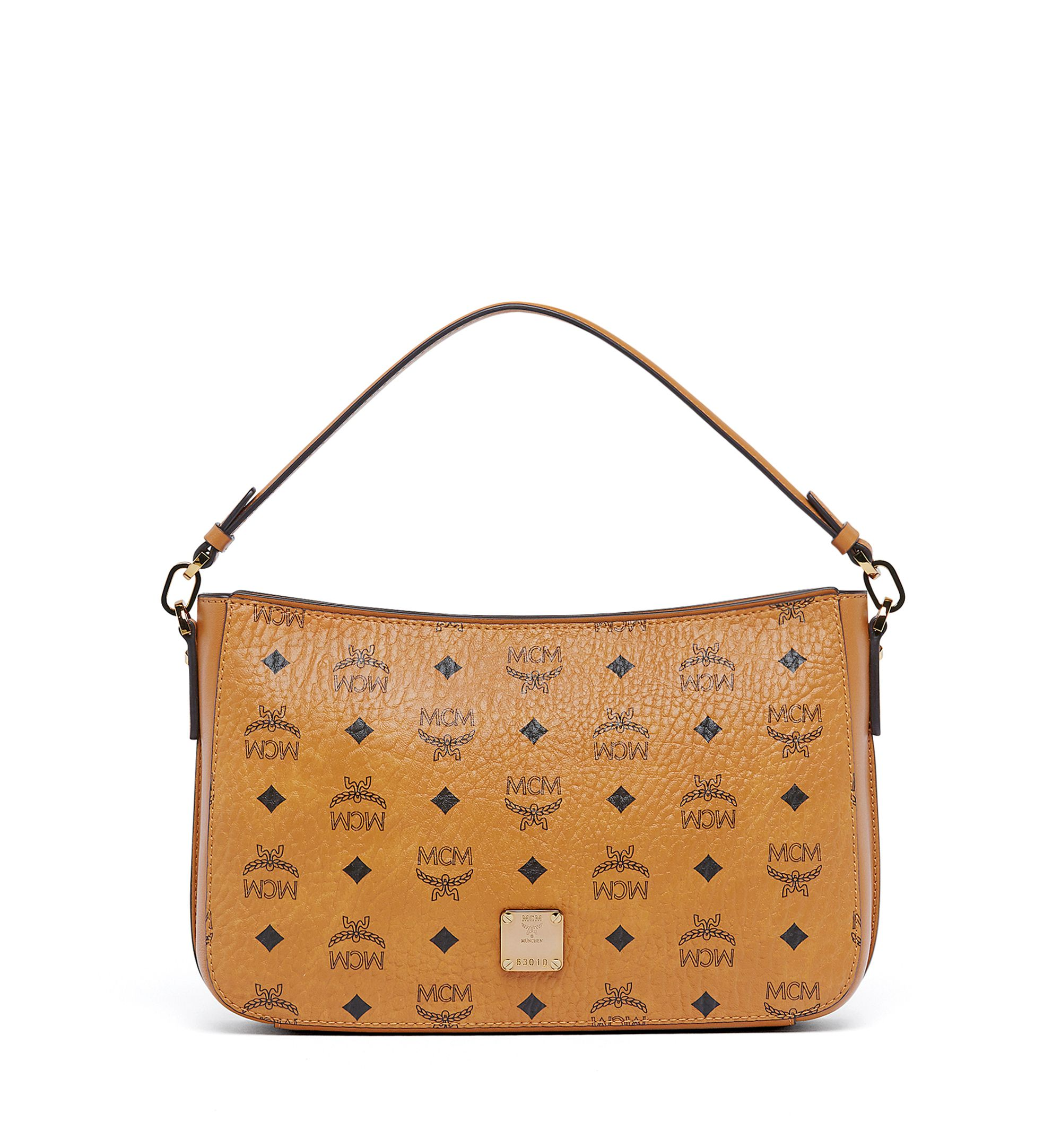 2073e13590c477 MCM ESSENTIAL SHOULDER BAG IN VISETOS ORIGINAL. #mcm #bags #shoulder bags  #hand bags #canvas #leather #