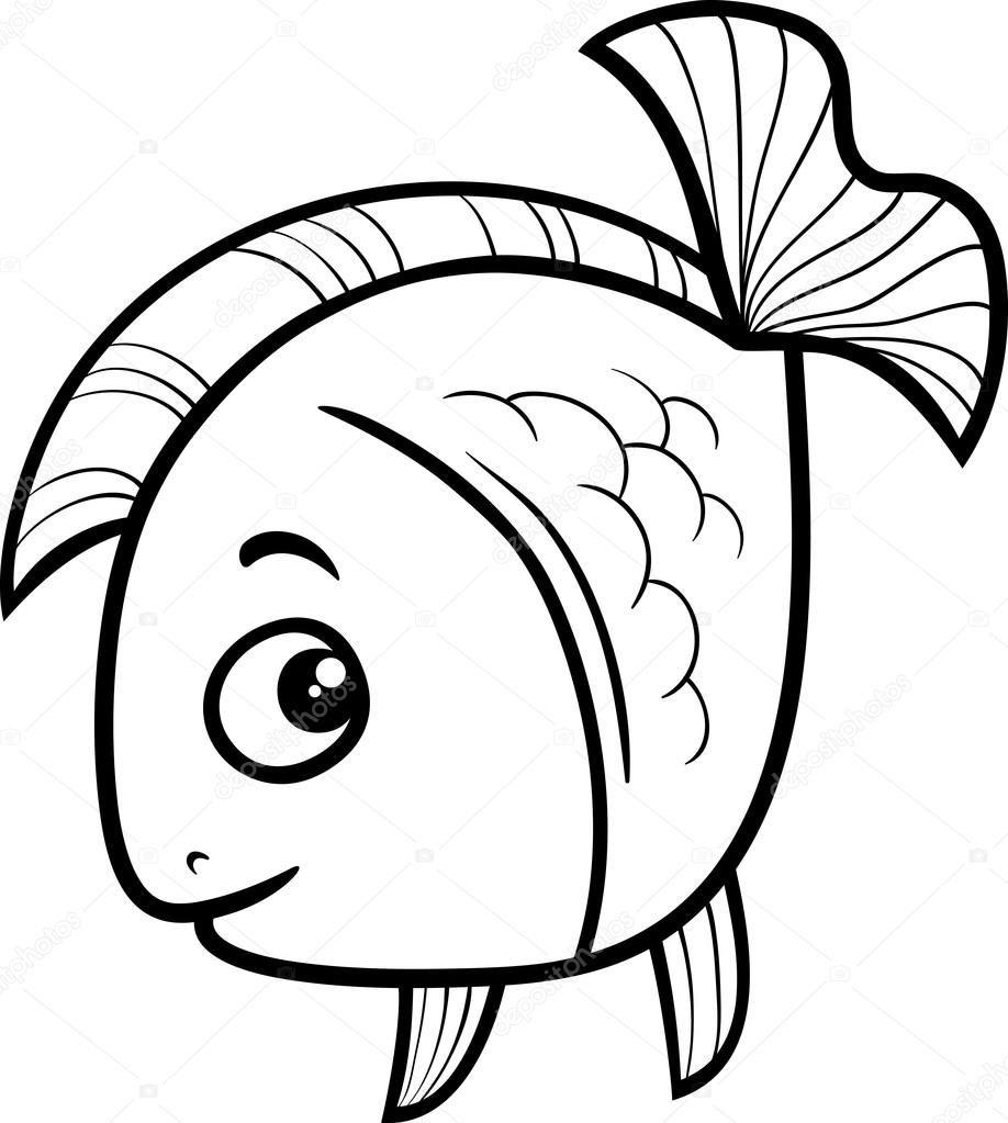 Downloaden Vis Cartoon Kleurplaat Stockillustratie Kleurplaten Cartoon Tekeningen Dieren Kleurplaten