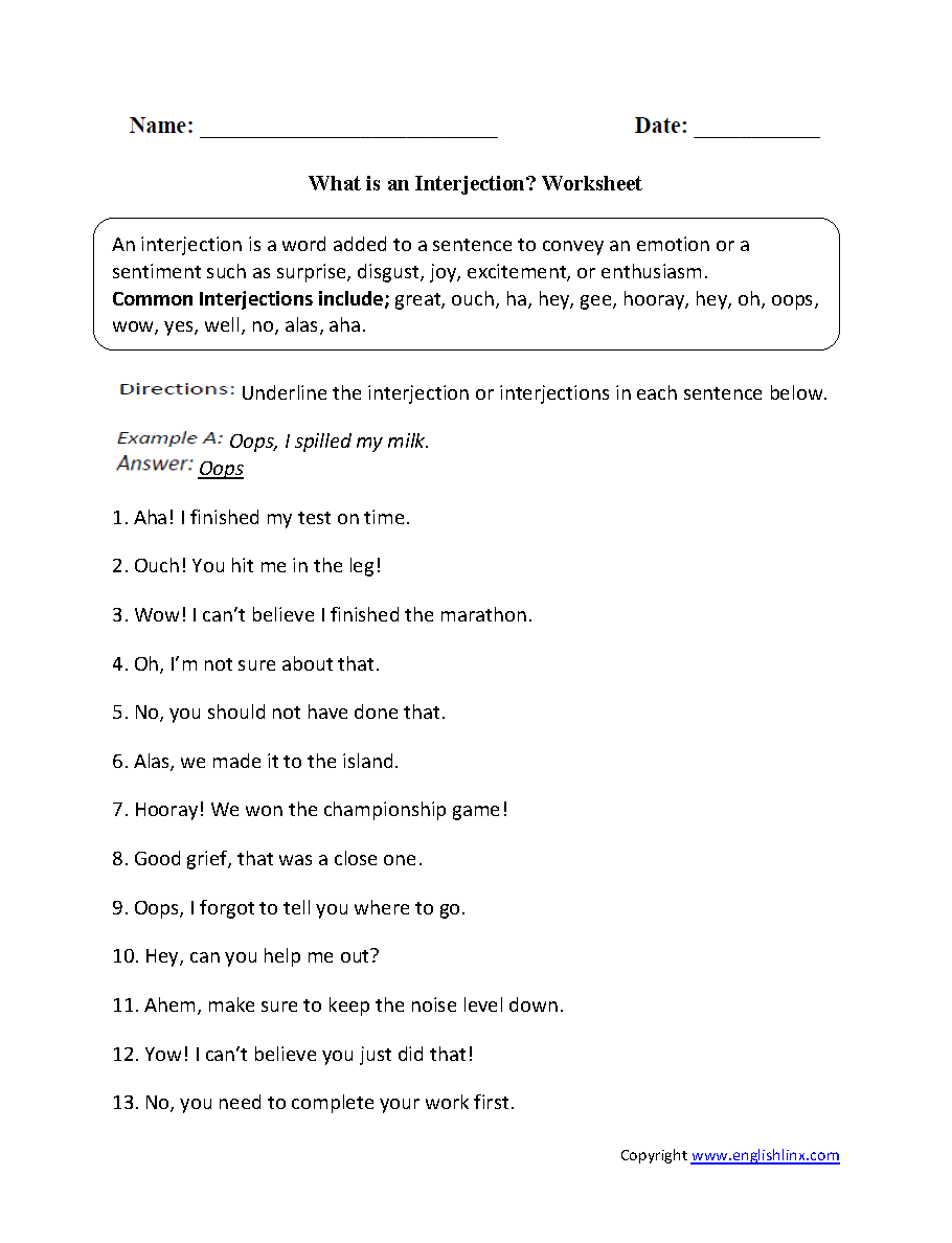 worksheet Capitalization Rules Worksheets what is an interjection worksheet interjections pinterest worksheet
