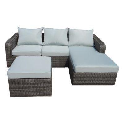 salotto da esterno giardino rattan set rattan COLORADO caffé terrazzo divano