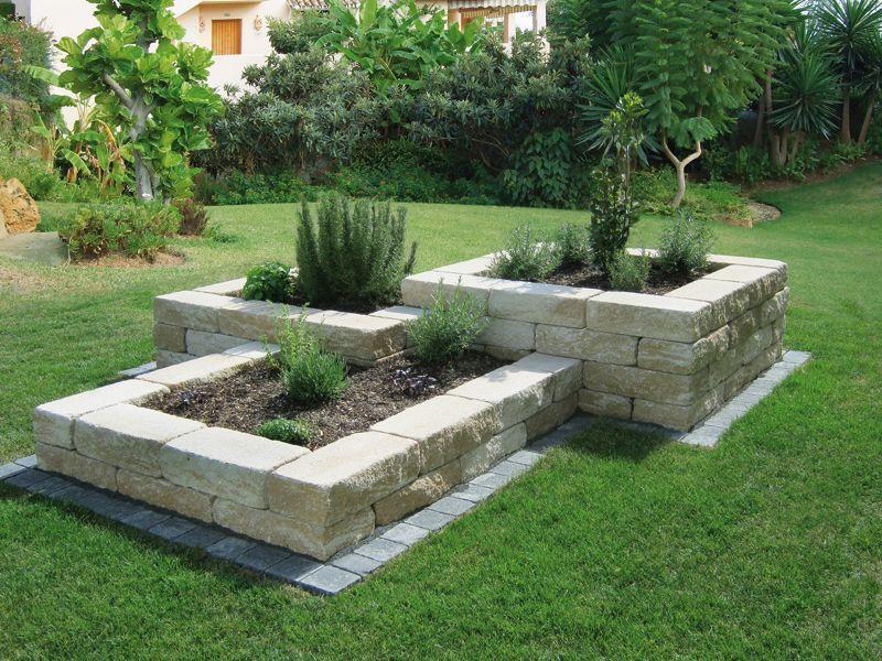 Beet Mit SteinenBaukastensysteme  Nowaday Garden Best Garten