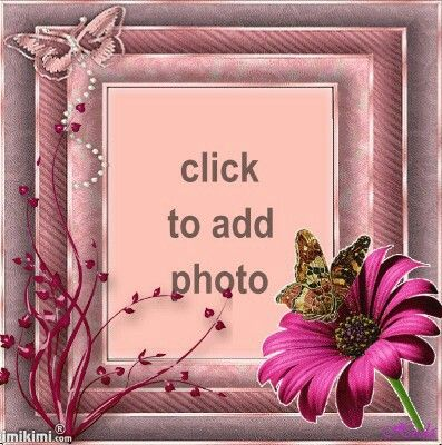 Beautiful Printable Flower Frame With Butterfly