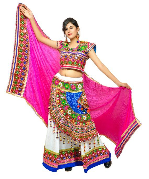 3bd5daeb19214b Indian Traditional Navratri Wear Chaniya Choli - Gujarat Garba Dance  Costume Dress - Bohemian Embroi