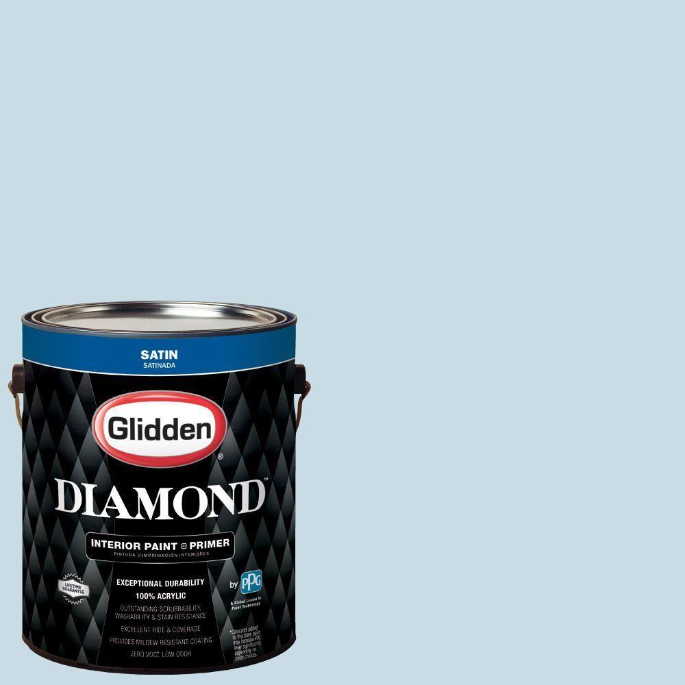 Glidden Diamond 1 gal. #HDGB48 Clerestory Blue Satin Interior Paint with Primer