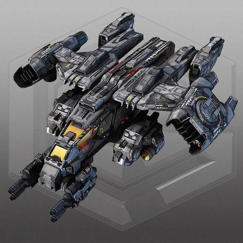 scifi dropship 3d model max obj fbx stl mtl 1   Jets