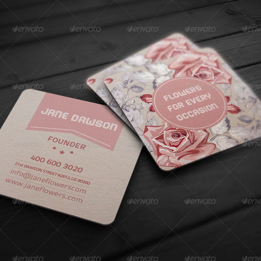 Flower Shop Business Card | Flower shops, Business cards and Business