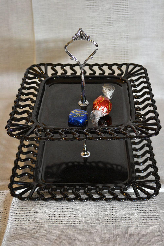 21+ Black cake stand set ideas