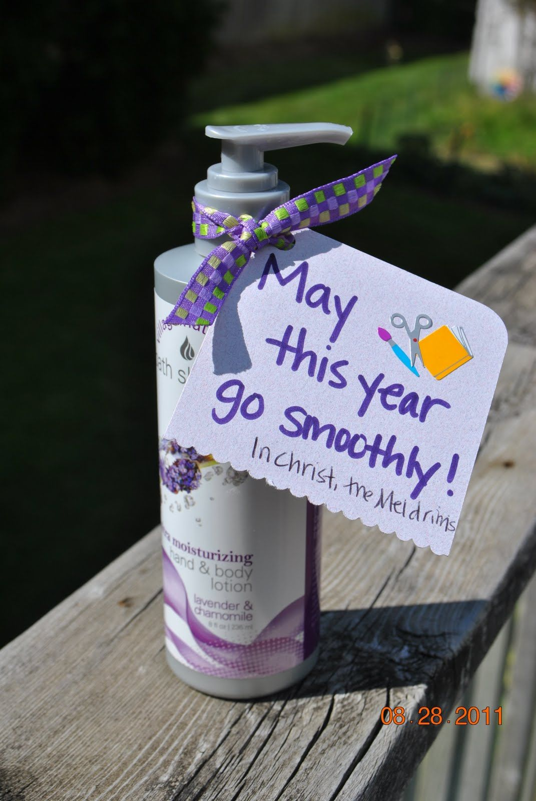 Thand/body lotion teacher gift? new year neighbour gift