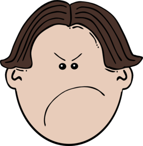 Angry Brown Boy Clip Art Vector Clip Art Online Royalty Free Public Domain Drawing Cartoon Faces Mad Face Feelings