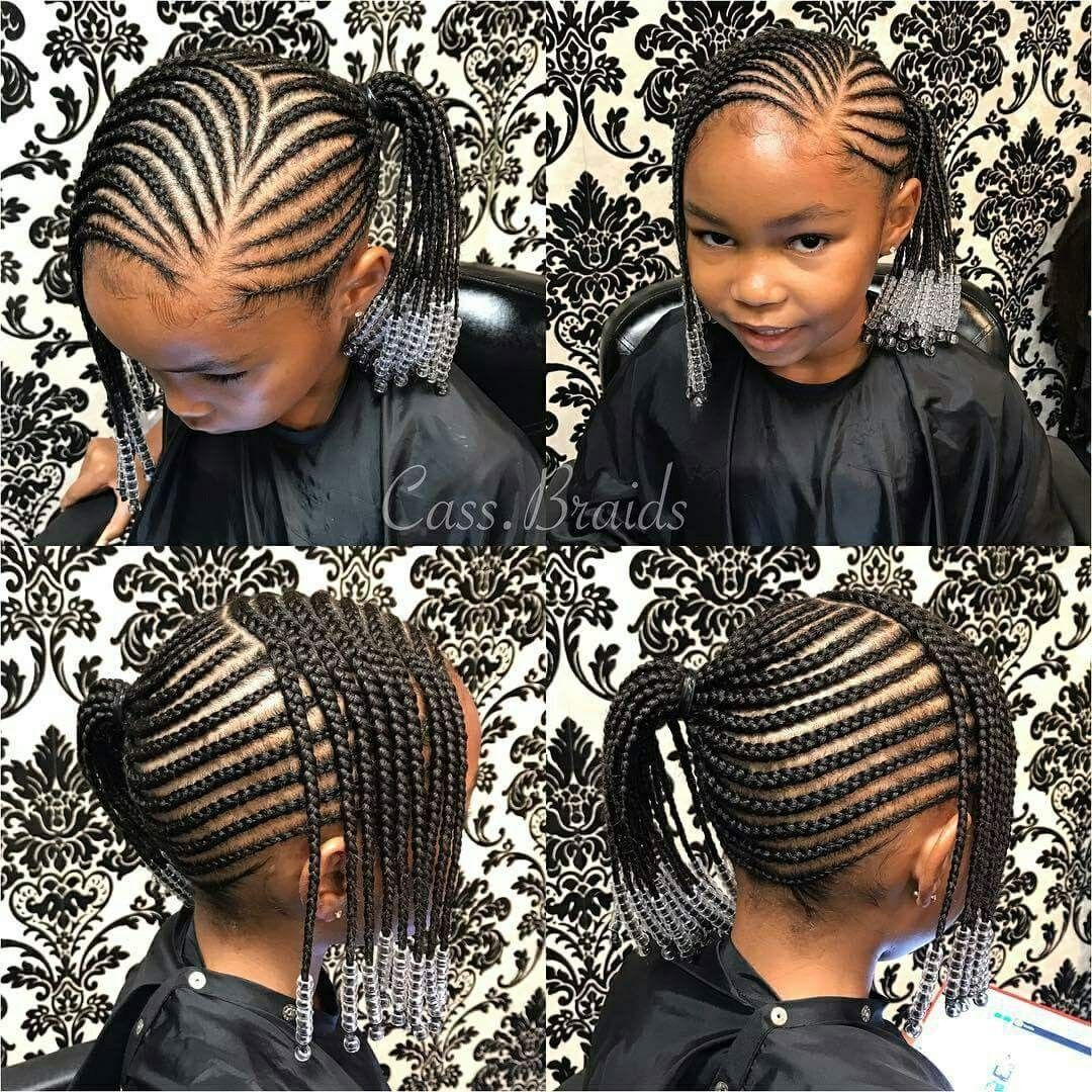 Pin By Diop On Mayas Hairstyles Kids Hairstyles Girls Little Girl Braids Lil Girl Hairstyles