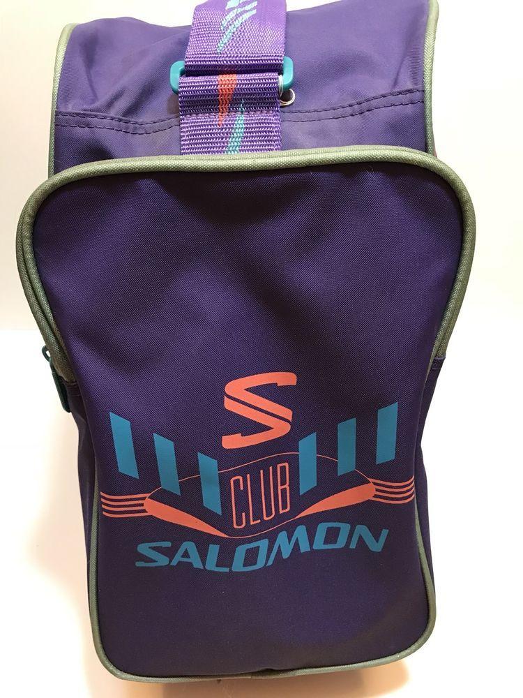 1085c82ff3d0 VINTAGE SALOMON Ski Boot Bag PURPLE Retro Ski Party Club Salomon 80 s Neon  RAD!  Salomon