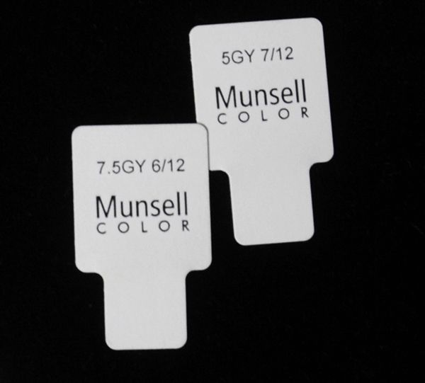 The Munsell color system is a means to visually identify and match ...