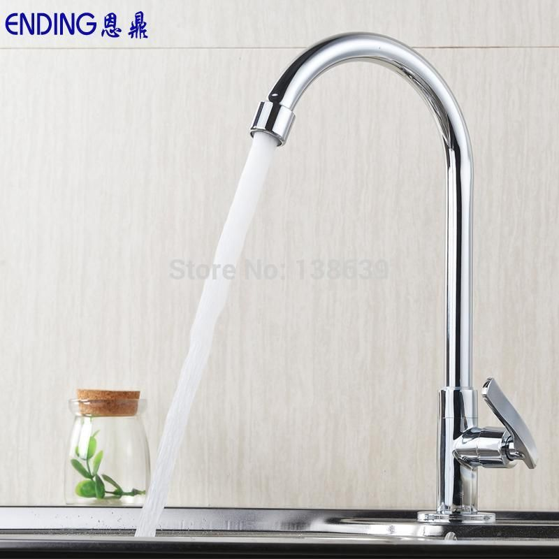 Tall Kitchen Faucets #7 - Kitchen Faucet Torneira Mixer Tap Single Lever Single Cold Faucet Kitchen  Lavatory Tall Vessel Sink Basin Faucet En001 | Kitchen Fixtures | Pinterest  ...