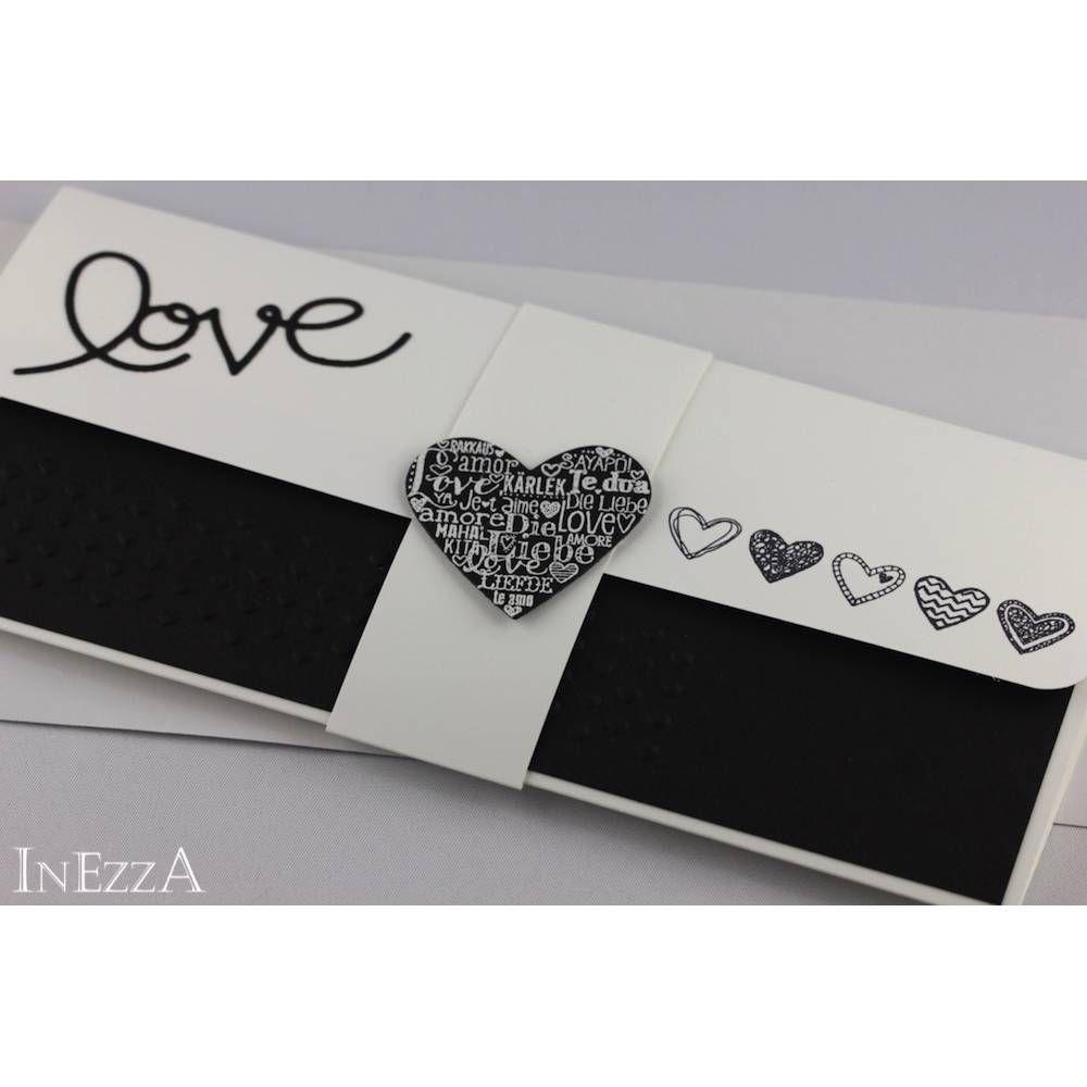 Geschenkverpackung für Konzertkarte - schwarz-weiß - Liebe auf kasuwa kaufen #konzertkartenverpacken