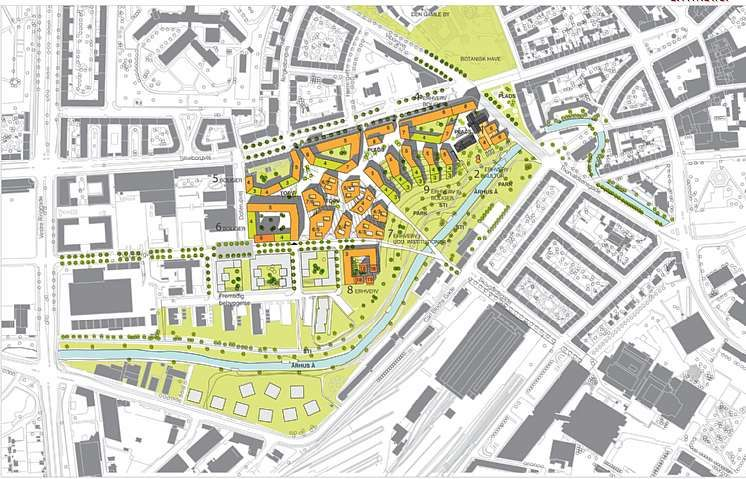 Ceres site, masterplan and area plan  C.F. Møller