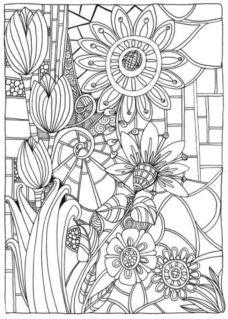 Flower drawings on pinterest dover publications coloring pages and - Creative Haven Entangled Coloring Book Dover Publications