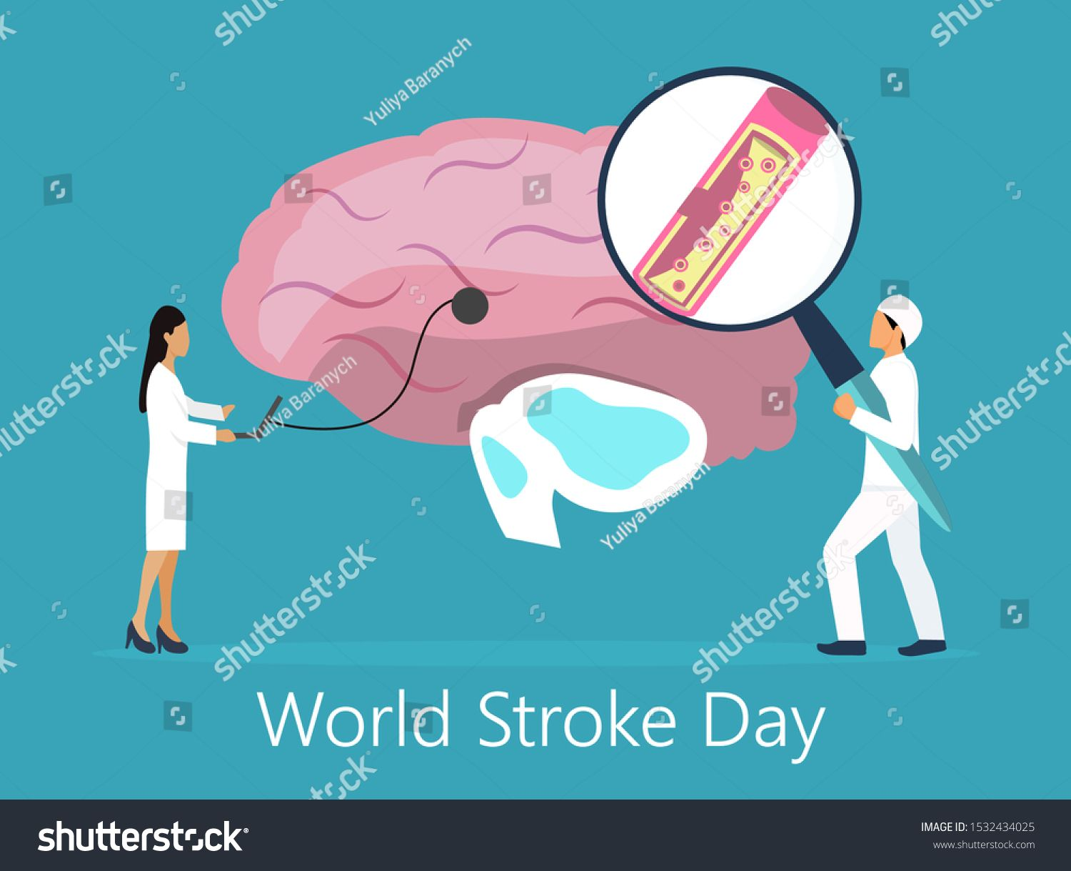World Stroke Day Vector Logo Poster Stock Vector Royalty Free 1539080405 World Stroke Day Vector Logo Poster Illustr In 2020 World Stroke Day Vector Logo Poster