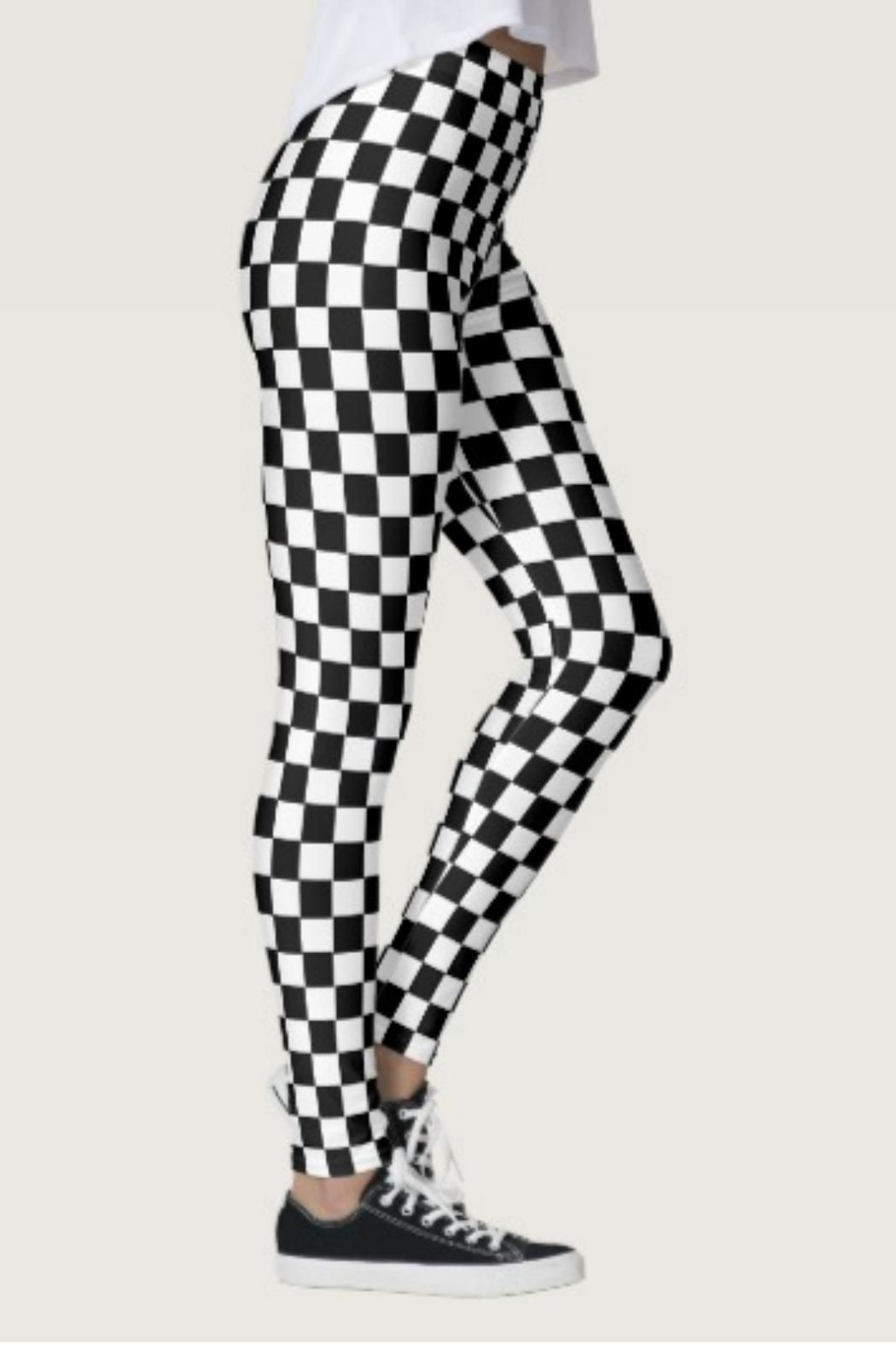 53ff714df32fe Shosho Black-White Checkered Leggings from North Carolina by Lucky Lucy's  Boutique — Shoptiques