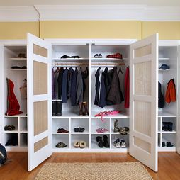 Could Put Cork Board Or Chalk Paint On Inside Of Door Mudroom Closet Room Closet Mud Room Storage