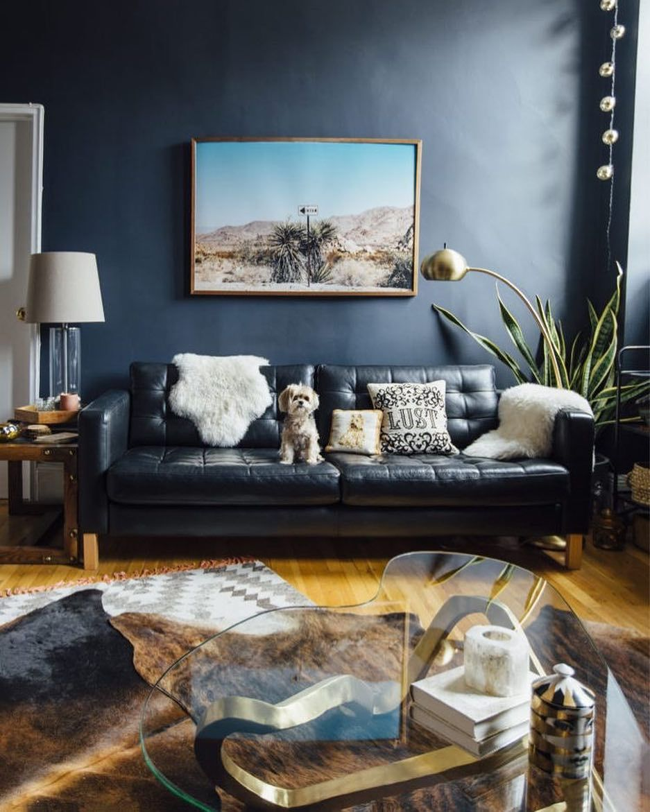 Colour And Texture Truly Creates The Feeling In Your Home Source Cupofjo Com Interi Leather Couches Living Room Dark Living Rooms Living Room Designs