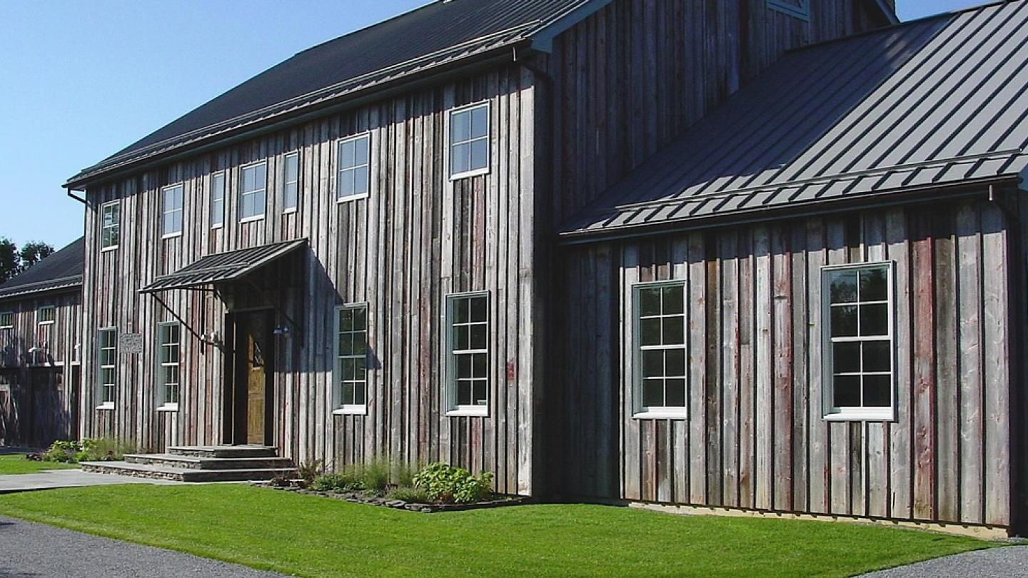 Authentic Barn Wood Siding Was Salvaged And Sourced To Clad The Exterior Of This Tucked Away Retreat Barnwood Si In 2020 With Images Barn Siding Wood Siding Antique Barn Wood