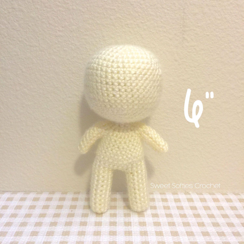 6 Base de muñeca Chibi Amigurumi Crochet patrón por Sylemn en Etsy ...