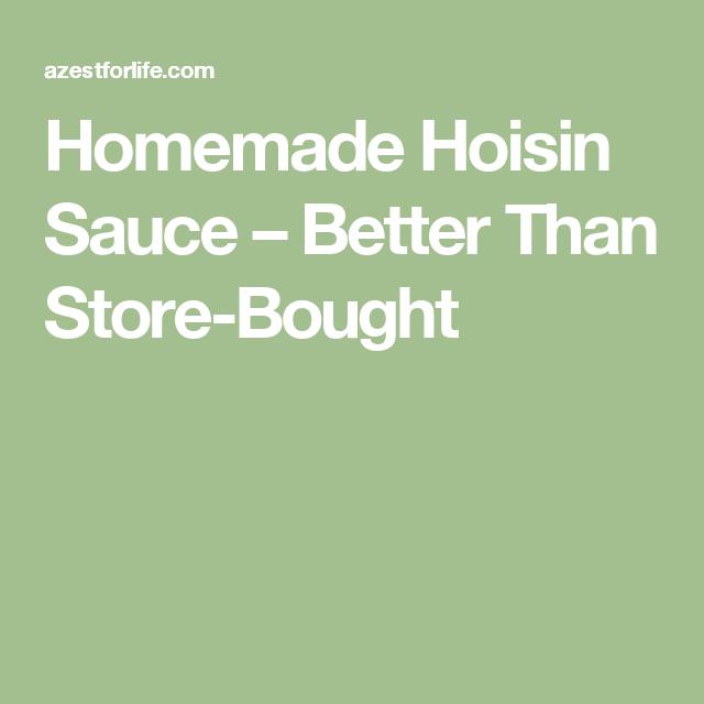 Homemade Hoisin Sauce – Better Than Store-Bought