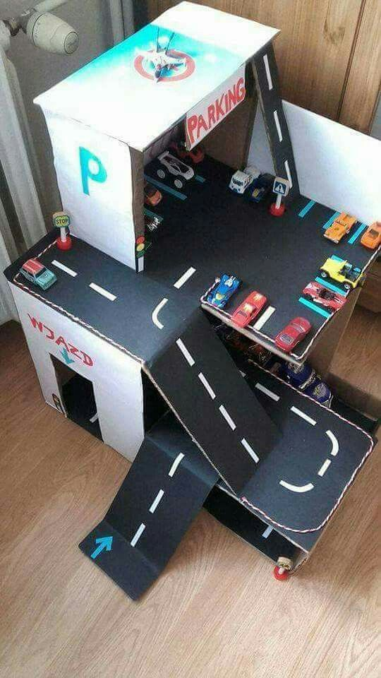pin by shaimaa ahmed on pinterest craft creative kids and cardboard boxes. Black Bedroom Furniture Sets. Home Design Ideas