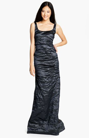 72872e9e81b3a Nicole Miller Metallic Textured Taffeta Gown   Nordstrom - $660 Nicole  Miller, Hemline, Ball
