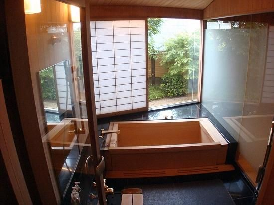 Bathroom Designs Japanese Style japanese bathroom design, soaking tub, shoji screen and window