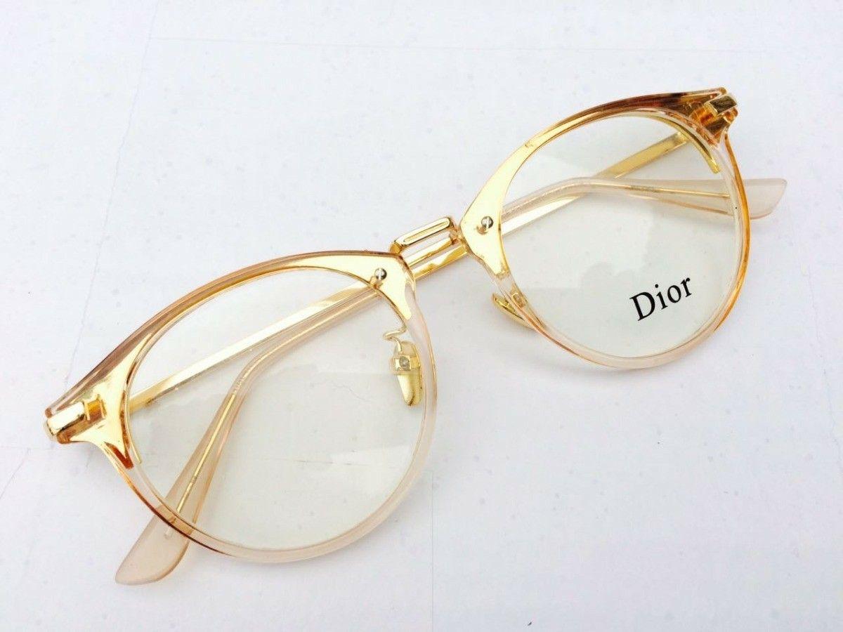 Dourado Oculos Estilosos Armacoes De Oculos