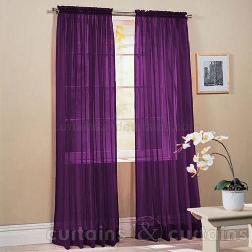 Purple Bedroom Curtains Stunning Slot Top Purple Voile Net Curtain Panel  Purple Curtains Pink Inspiration Design