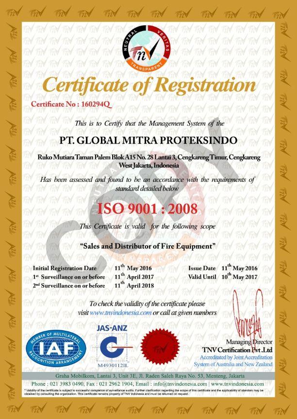 Perusahaan Pemadam Sertifikat ISO / SNI pdf | Daftar Harga, Jenis ...