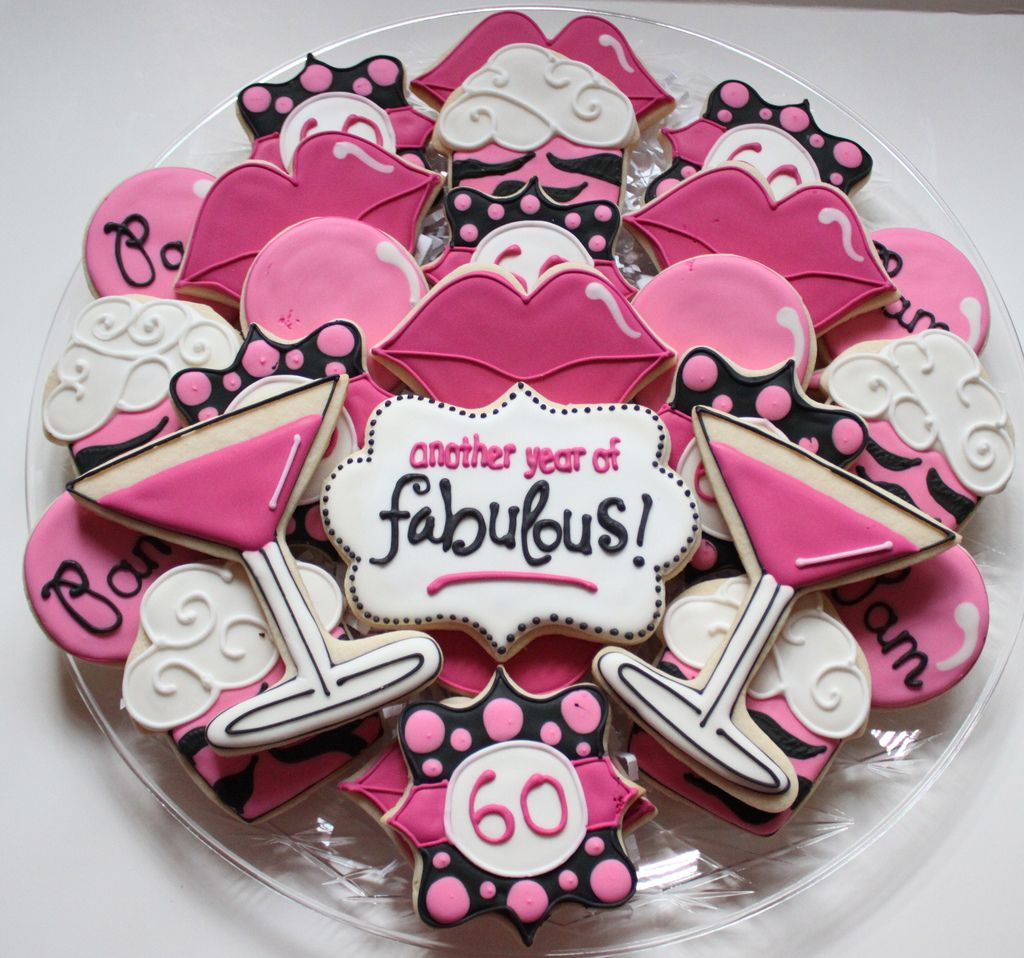 60th Birthday Cookies