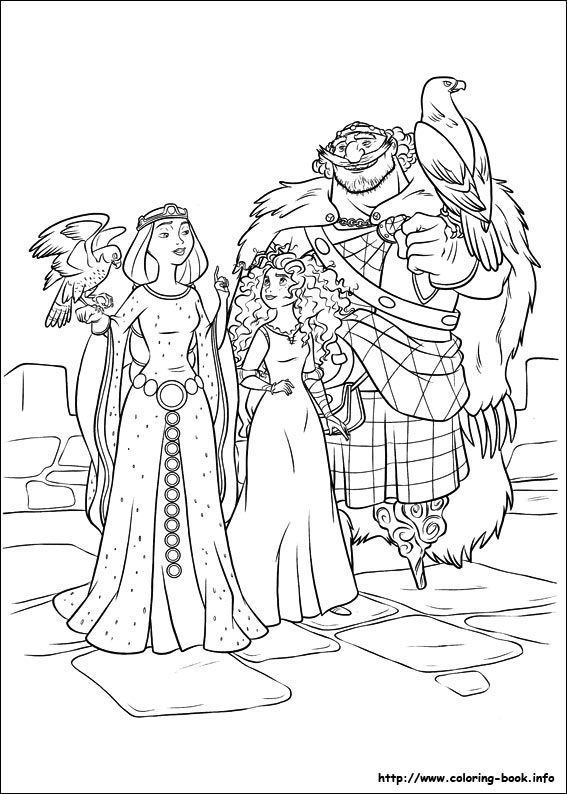 Brave Coloring Picture Disney PagesColoring