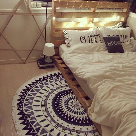 ベッド周り/西海岸インテリア/カルフォルニアスタイルにしたい ...