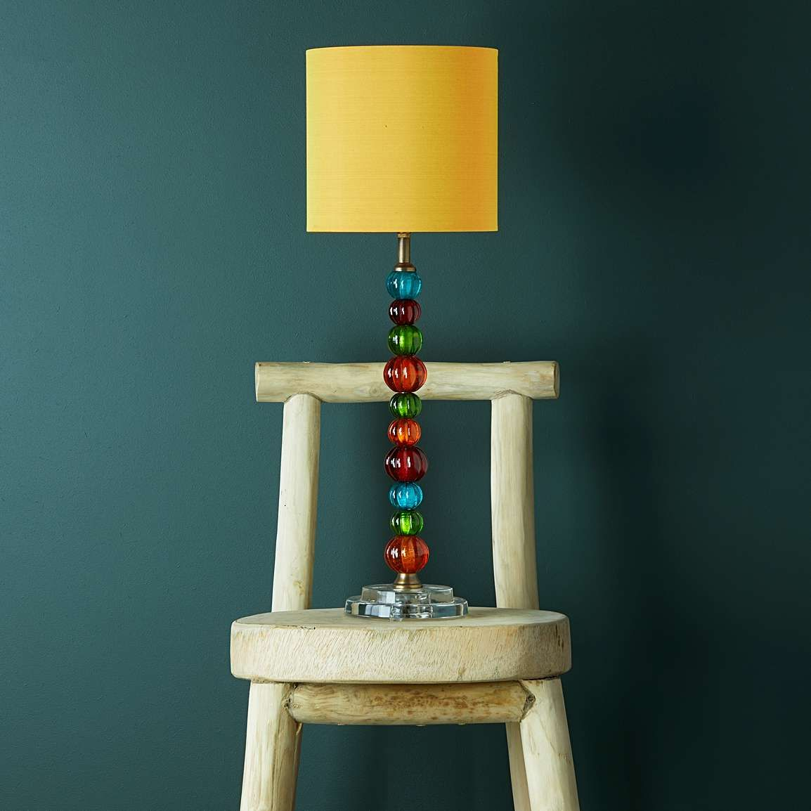 Sweetie table lamp in multicoloured glass Colored glass