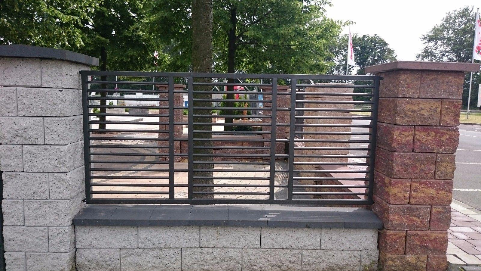 Modern Wrought Iron Railings Fence Panel Metal Balustrade powder