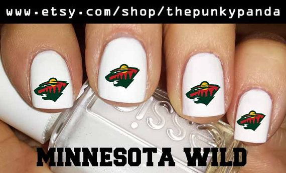 Minnesota Wild Nail Decal Or You Pick Team By Thepunkypanda 499