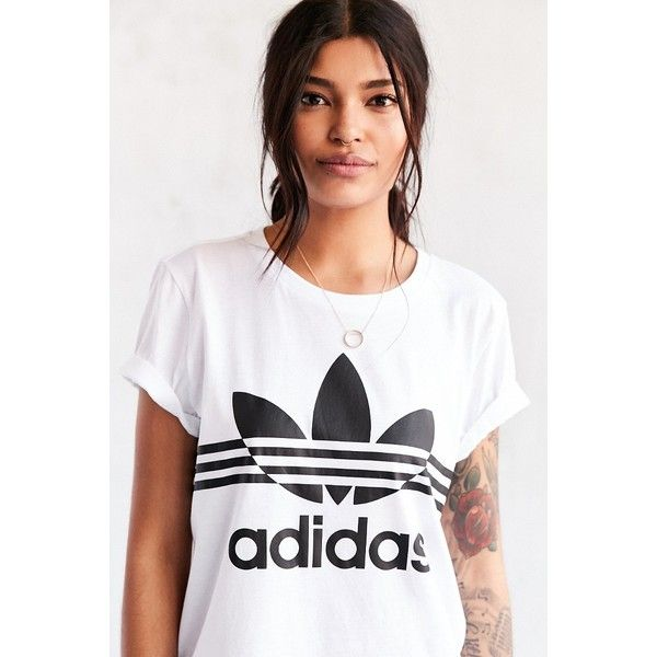 Shop adidas Originals SOS Tennis Boyfriend Trefoil Tee at Urban Outfitters  today.