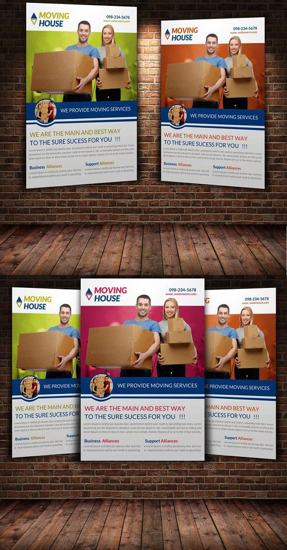 Moving House Flyer Template Postcard Design Pinterest Flyer