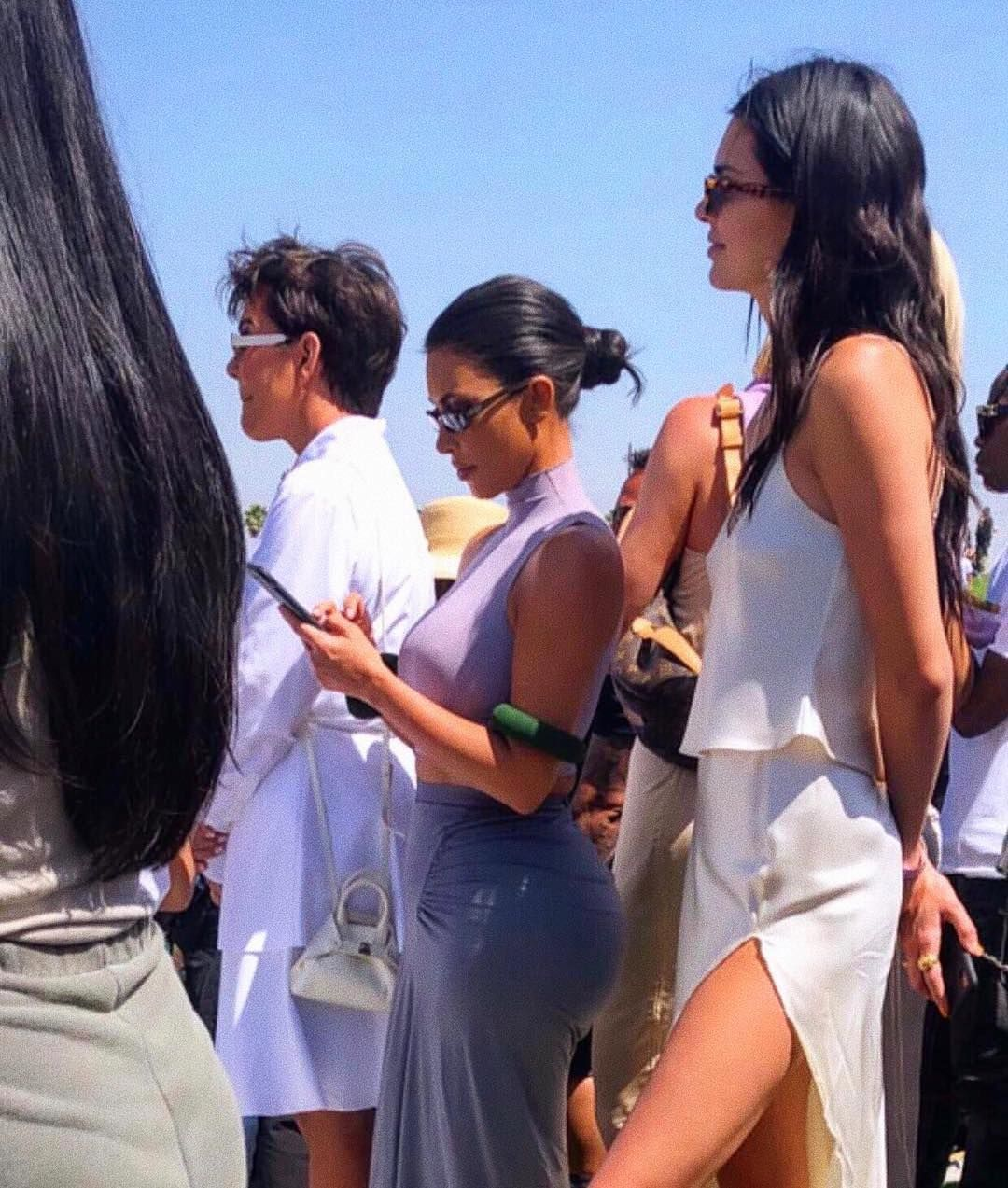 Kendall Kim Today At Kanye S Sunday Service At Coachella Kim Kardashian Style Kylie Jenner Outfits Kendall Jenner Outfits