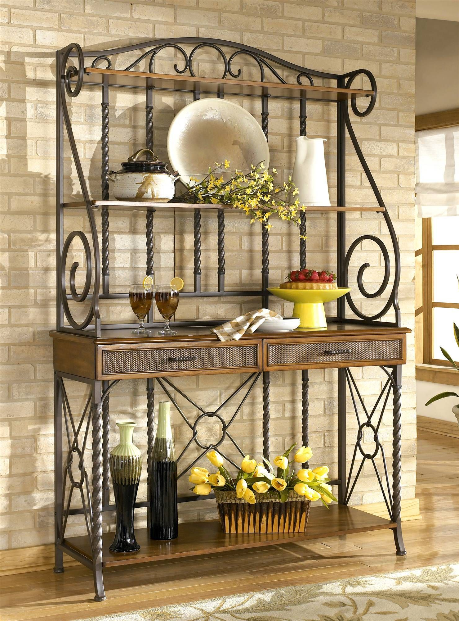 sleek designer bakers racks furniture bakers rack