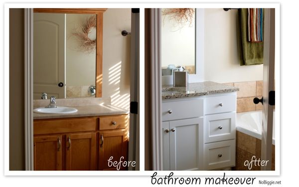 bathroom vanity before and after - Bathroom Cabinets Before And After